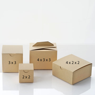 "100 Pack | Ivory 2"" square 2 Pcs Favor Boxes"