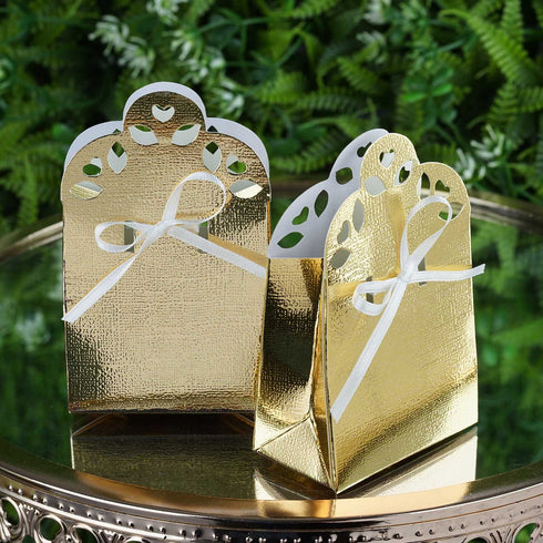 100 PCS Gold Sacchetto Favor Boxes