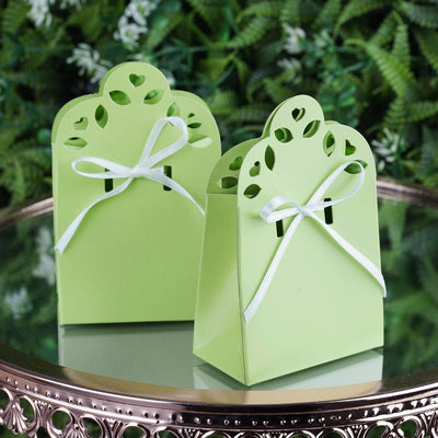 100 PCS Sage Green Sacchetto Favor Boxes