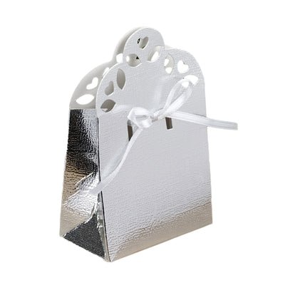 100 PCS Silver Sacchetto Favor Boxes
