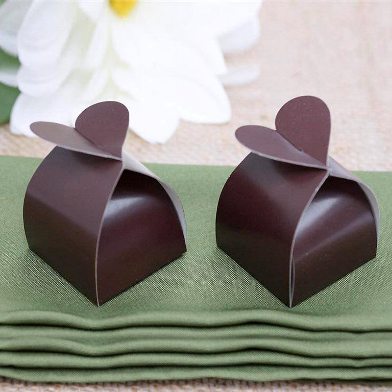Chocolate Heart Top Favor Box -100pc