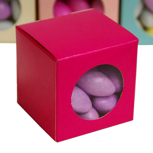 "100 PCS Fushia Ballotin Favor Boxes Bridal Shower Party Favor Gift Container - 2""x2"""