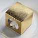 "100 PCS Gold Ballotin Favor Boxes - 2"" x 2"""