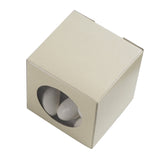 "100 PCS Ivory Ballotin Favor Boxes - 2"" x 2"""