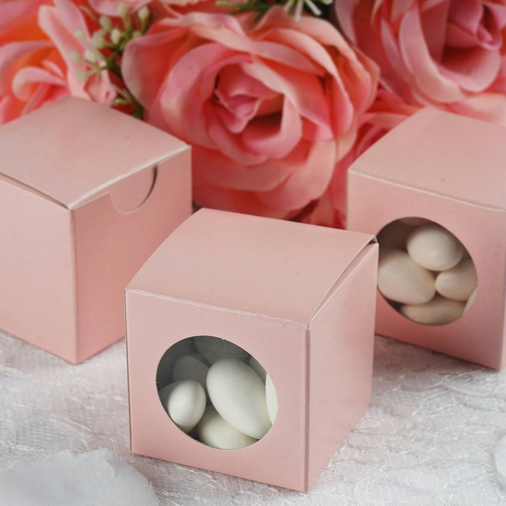100 PCS Pink Ballotin Favor Boxes Bridal Shower Party Favor Gift ...