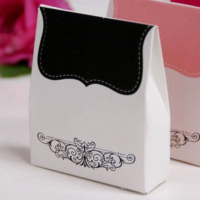 100 PCS Black Tapestry Favor Boxes