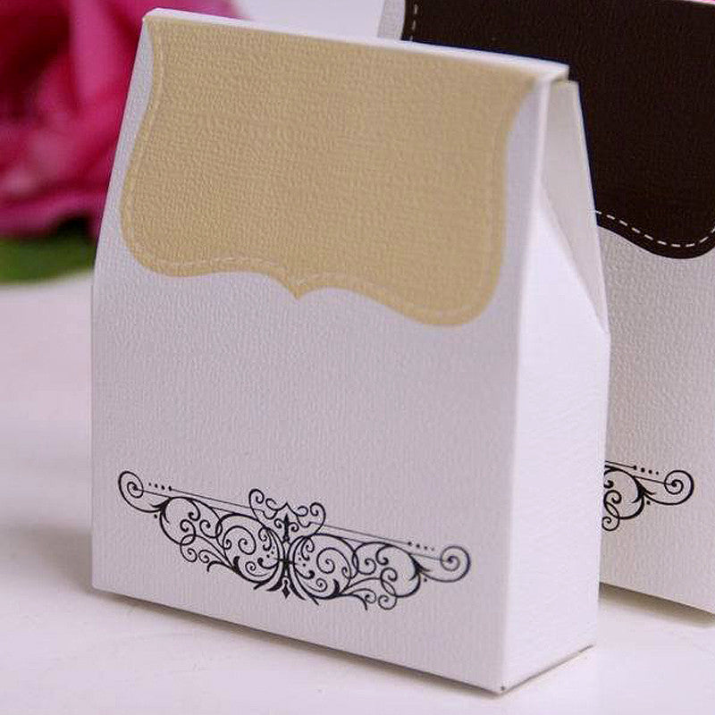 100 PCS Ivory Tapestry Favor Boxes Bridal Shower Party Favor Gift Container