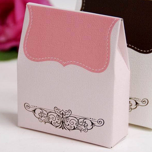 100 PCS Pink Tapestry Favor Boxes
