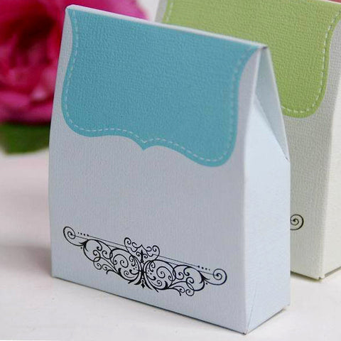 100 PCS Turquoise Tapestry Favor Boxes Bridal Shower Party Favor Gift Container