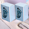 100 PCS Blue Baby Foot Favor Boxes