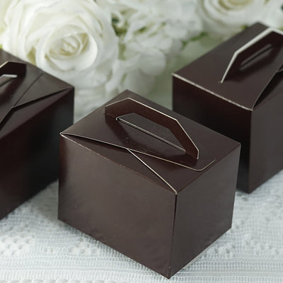 100 PCS Chocolate Tote Favor Boxes