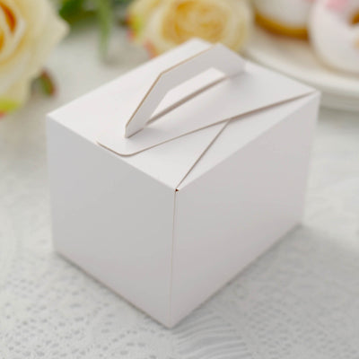 100 PCS White Tote Favor Boxes Bridal Shower Party Favor Gift Container