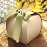 100 PCS Natural Cupcake Muffin Favor Boxes Bridal Shower Party Favor Gift Container