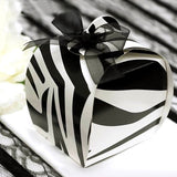 100 PCS Black/White Zebra Cupcake Muffin Favor Boxes Bridal Shower Party Favor Gift Container