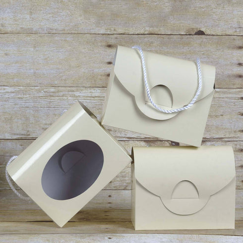 Designer Clutchable Purse Favor Boxes 10pcs - Ivory