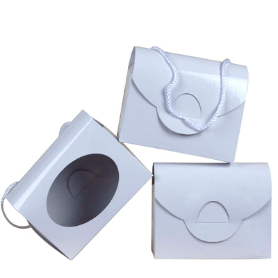 10 PCS White Clutchable Purse Favor Boxes