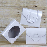 Designer Clutchable Purse Favor Boxes 10pcs - White