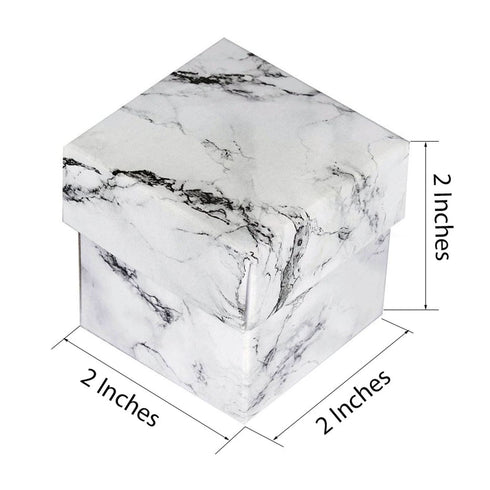 "50 Pack | Marble Design 2"" Square 2 Pcs Favor Boxes"
