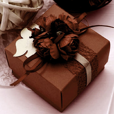 100 PCS Chocolate Favor Boxes