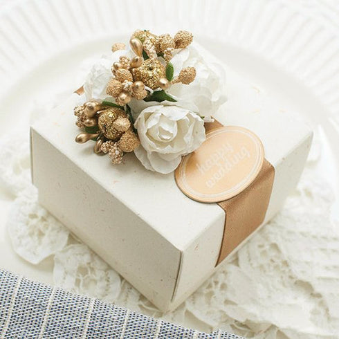 100 PCS Ivory Favor Boxes
