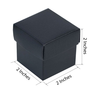 "100 Pack | Chocolate 2"" square 2 Pcs Favor Boxes"