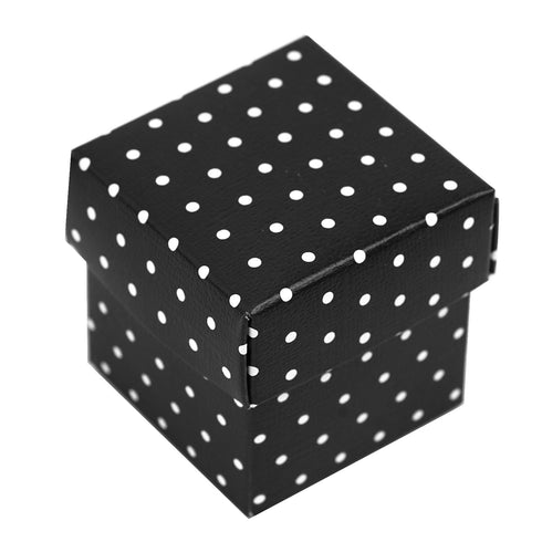 100 Favor Boxes Black Polka Dots 2 pcs Favor Boxes