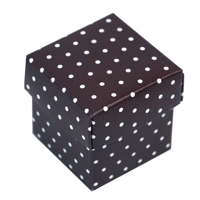 100 Favor Boxes Chocolate Polka Dots 2 pcs Favor Boxes