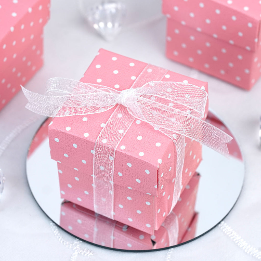 100 boxes polka dots 2 pcs favor boxes