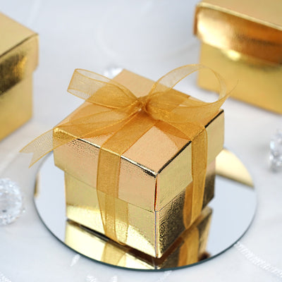 100 Favor Boxes Gold 2 pcs Favor Boxes