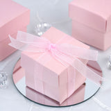 100 Favor Boxes Pink 2 pcs Favor Boxes