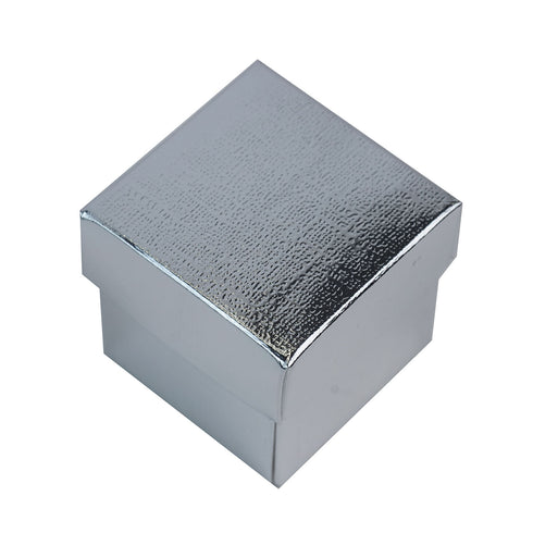 100 Favor Boxes Silver 2 pcs Favor Boxes