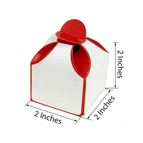 100 PCS Dual Tone Chocolate Favor Boxes