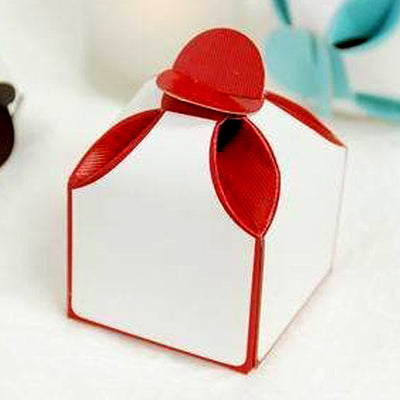 100 PCS Dual Tone Red Favor Boxes