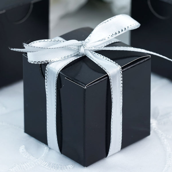 "100 PCS | 2""x2"" Black Party Favor Boxes"