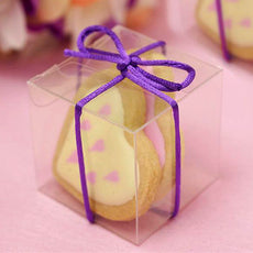 "25 PCS 2"" x 2"" CLEAR Bridal Shower Party Favor Gift Boxes"