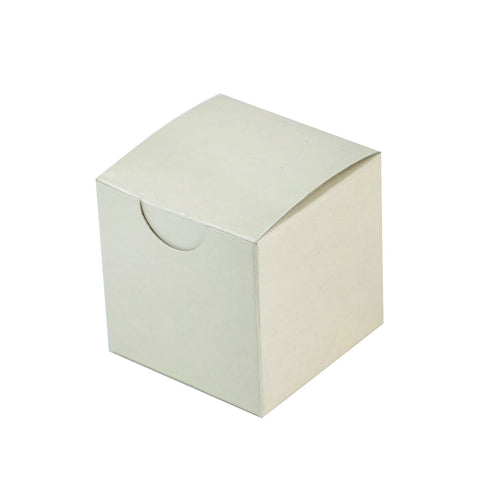 "100 PCS | 2""x2"" Ivory Party Favor Boxes"