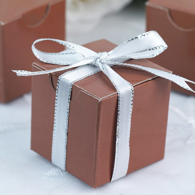 "100 PCS 2"" x 2"" Mocha Favor Boxes"