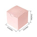 "100 PCS | 3""x3"" Rose Gold/Blush Party Favor Boxes"