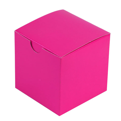 "100 PCS | 3""x3"" Fushia Party Favor Boxes"
