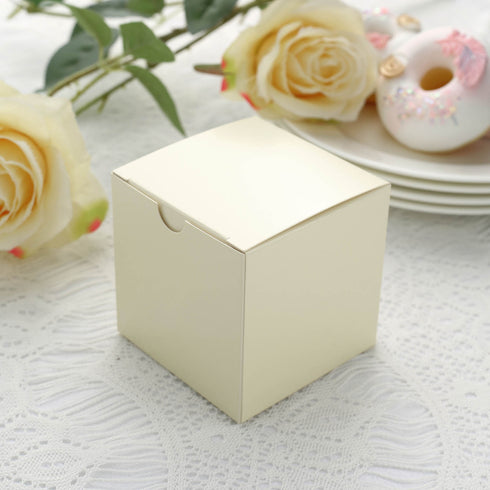 3x3x3 Ivory Favor Box 100pc Efavormart