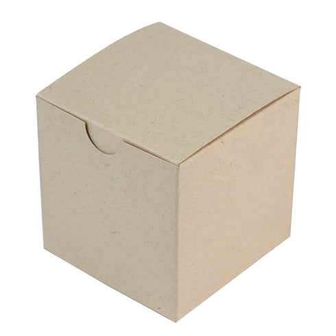 "100 PCS 3"" x 3"" Natural Favor Boxes"