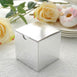 "100 PCS | 3""x3"" Silver Party Favor Boxes"