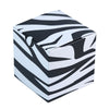 100 PCS Square Black/White Zebra Party Favor Boxes | Jungle Theme Party Decoration