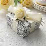 "100 PCS Black/White Cake Muffin Favor Boxes Bridal Shower Party Favor Gift Container - 4""x4""x2"""