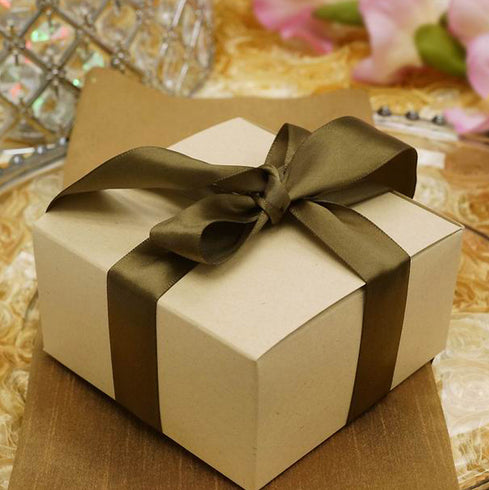 "100 PCS Natural Cake Favor Boxes - 4""x4""x2"""