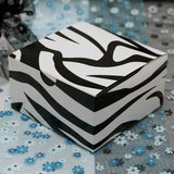 "100 PCS Black/White Zebra Cake Muffin Favor Boxes Bridal Shower Party Favor Gift Container - 4""x4""x2"""