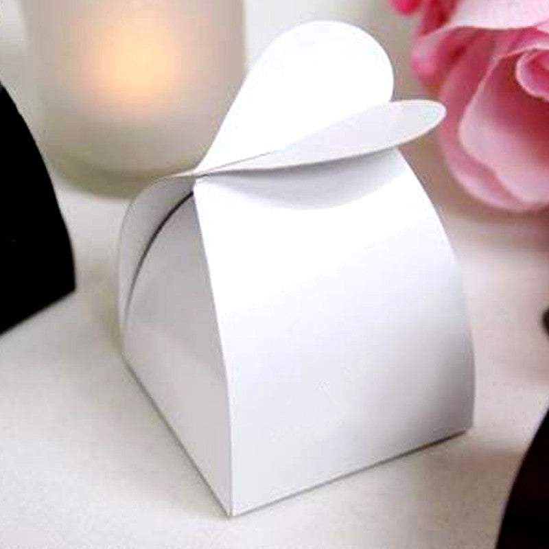 White Amor Favor Box -100pc