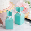 25 Pack - Vase Shape Favor Boxes with Satin Ribbons - Turquoise Cardboard Wedding Gift Boxes