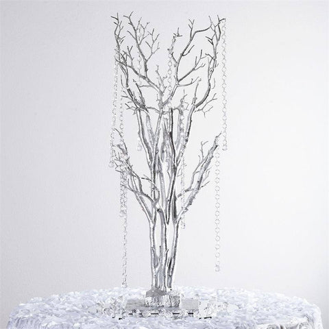 "32"" Vogue Manzanita Centerpiece Tree - Silver"