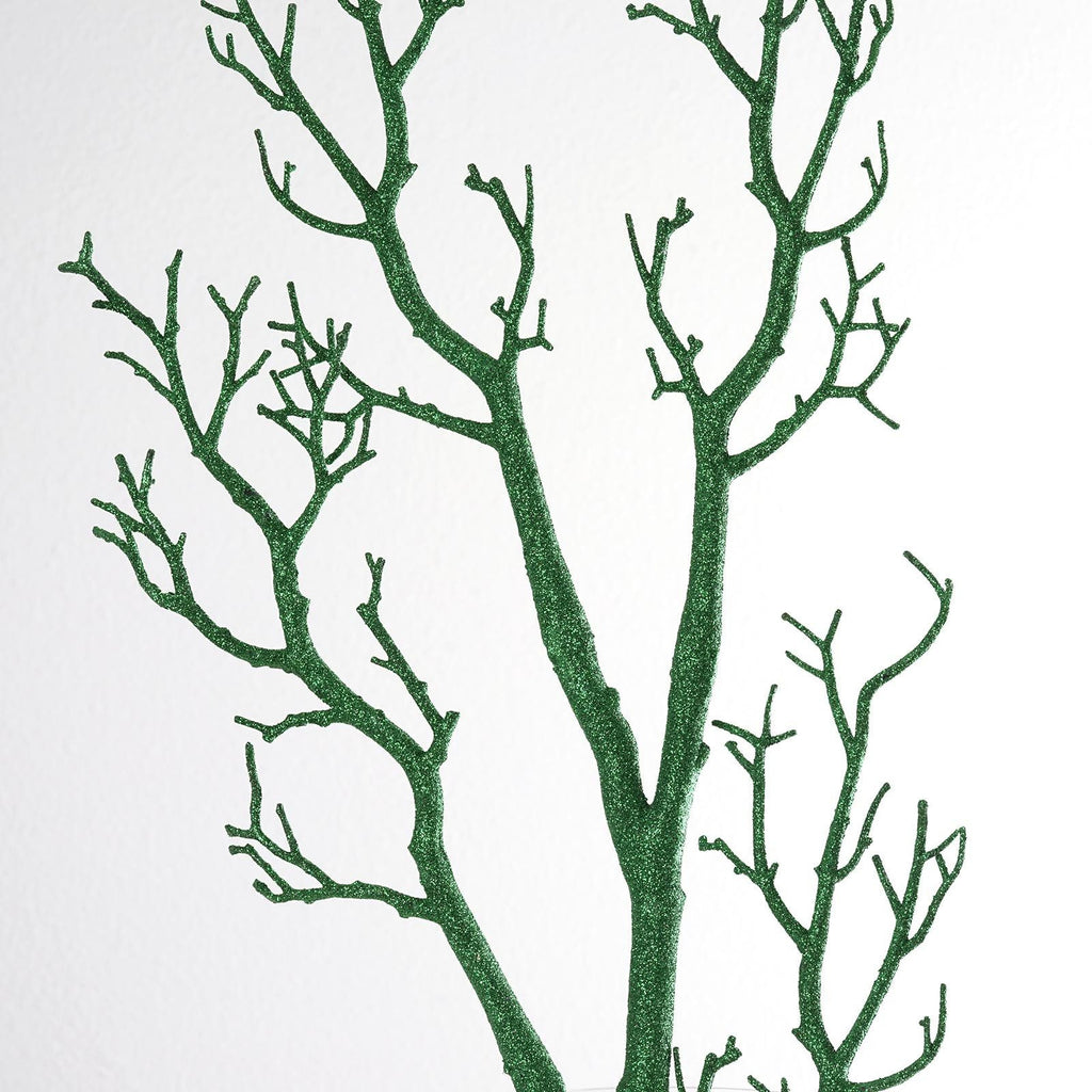 "32"" Vogue Manzanita Centerpiece Glittered Branches - Green 4/pk"